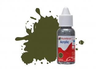 HUMBROL Peinture Acrylique 155 olive terne Mat Flacon compte-gouttes 14ml