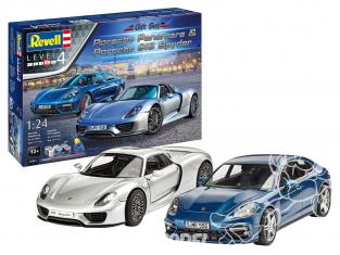 REVELL maquette voiture 05681 Porsche Set avec Colle peintures 1/24