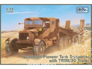 IBG maquette militaire 72080 Tracteur Scammell Pioneer Transporteur de chars avec remorque TRUCU30 1/72