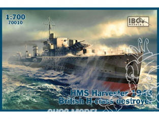 IBG maquette bateau 70010 HMS Harvester 1943 destroyer britannique de classe H 1/700