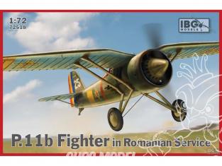 IBG maquette avion 72518 PZL P.11b Combattant dans le service roumain 1/72