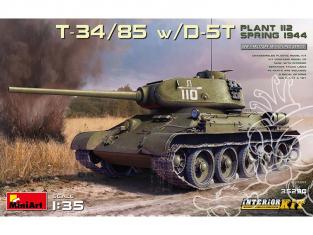 Mini Art maquette militaire 35290 T-34/85 avec D-5T. PLANT 112. SPRING 1944. avec interieur détaillé 1/35