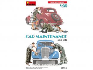 Mini Art maquette militaire 38019 MAINTENANCE de voiture 1930-40s 1/35