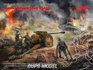 Icm maquette militaire DS3505 Bataille de Koursk (juillet 1943) (T-34-76 (début 1943), Pak 36 (r) avec 4 membre d'équipage 1/35