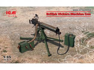 Icm maquette militaire 35712 Mitrailleuse britannique Vickers (100% nouveaux moules) 1/35