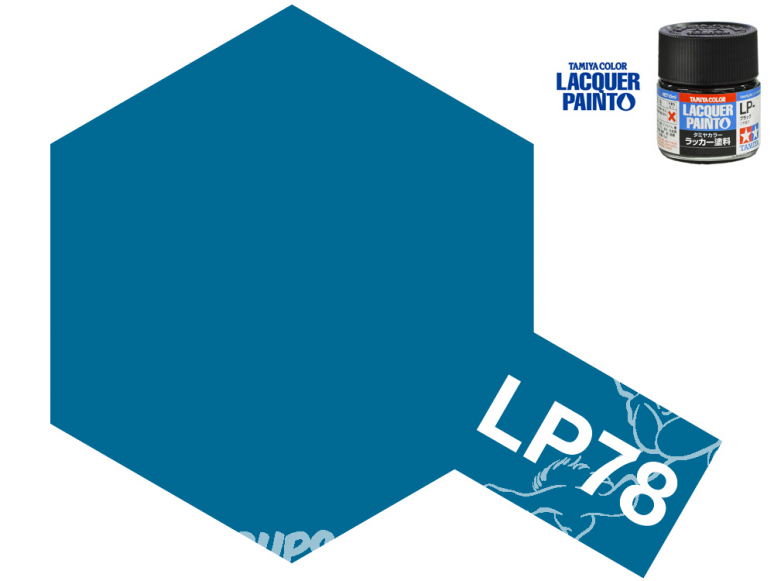 Peinture laque couleur Tamiya LP-78 Bleu mat 10ml