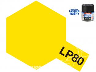 Peinture laque couleur Tamiya LP-80 Jaune mat 10ml