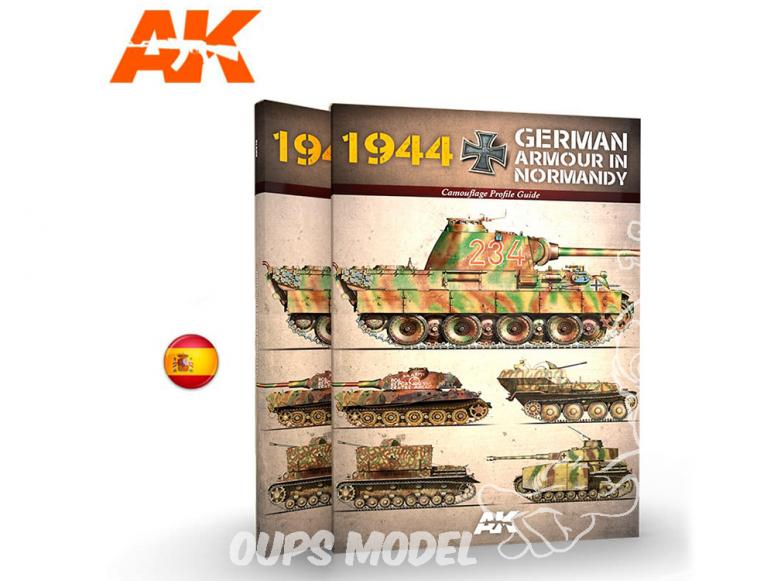 Ak Interactive livre AK917 1944 Blindés Allemands en Normandie en Espagnol