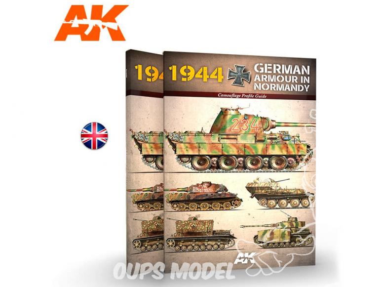 Ak Interactive livre AK916 1944 Blindés Allemands en Normandie en Anglais