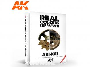 Ak Interactive livre AK299 Real Colors WWII Blindés - Couleurs réelles WWII en Anglais