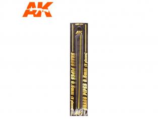 AK interactive ak9104 Tubes laiton 0.5mm x5