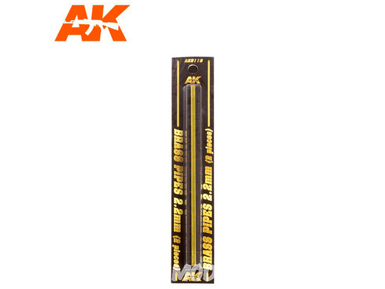 AK interactive ak9119 Tubes laiton 2,2mm x2