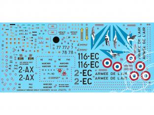 DECALQUES BERNA DECALS BD32-69 Dassault Mirage 2000-5F Cigognes 1/32