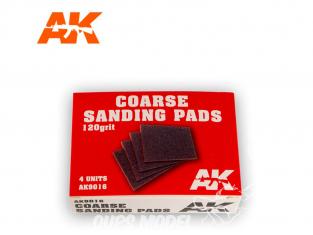 AK interactive outillage ak9016 Eponge de ponçage grain 120 x4