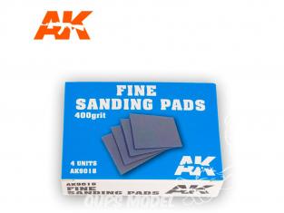 AK interactive outillage ak9018 Eponge de ponçage grain 400 x4