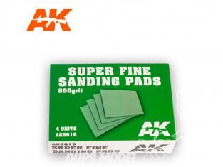 AK interactive outillage ak9019 Eponge de ponçage grain 800 x4