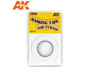 AK interactive ak9124 Bande cache pour courbes 3mm - Bande de masquage