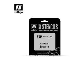 Vallejo Stencils ST-AFV004 pochoir Slogans soviétiques WWII Nº1 1/35