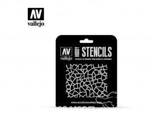 Vallejo Stencils ST-CAM003 pochoir Camouflage girafe Luftwaffe WWII 1/32
