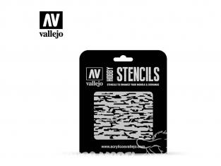 Vallejo Stencils ST-CAM004 pochoir Camouflage pixélisé 1/32 1/35