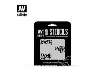 Vallejo Stencils ST-LET003 pochoir Graffiti de rue n ° 1 1/35