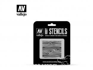 Vallejo Stencils ST-TX007 pochoir Veines de bois Nº2 1/35