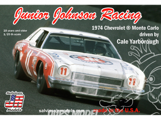 JR Models maquette voiture 1974B Junior Johnson Racing 1974 Chevrolet ®Monte Carlo driven by Cale Yarborough 1/25