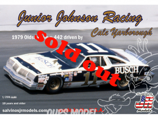 JR Models maquette voiture 1979D Junior Johnson Racing 1979 Oldsmobile ® 442 Driven By Cale Yarborough 1/25