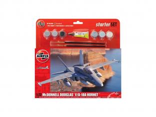 Airfix maquette avion A55313 Starter Set McDonnell Douglas F-18A Hornet 1/72