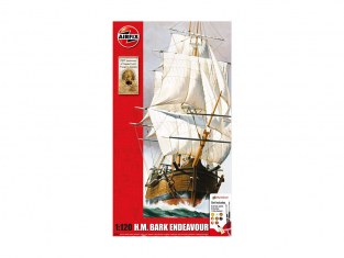 Airfix maquette bateau A50047 Endeavour Bark and Captain Cook 250th anniversary1/120