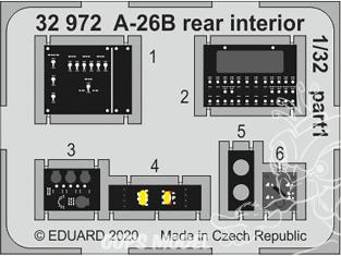 Eduard photodécoupe avion 32972 Intérieur arrière A-26B Hobby Boss 1/32