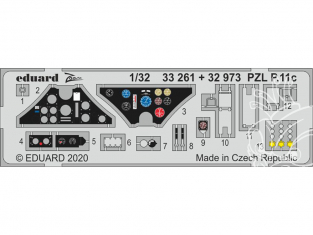 Eduard photodécoupe avion 32973 Amélioration PZL P.11c IBG 1/32