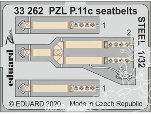 Eduard photodécoupe avion 33262 Harnais métal PZL P.11c IBG 1/32