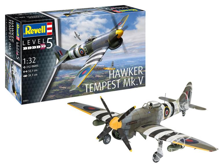 Revell maquette avion 03851 Hawker Tempest V 1/32