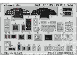 EDUARD photodecoupe avion FE1119 Zoom amélioration O-2A Icm 1/48