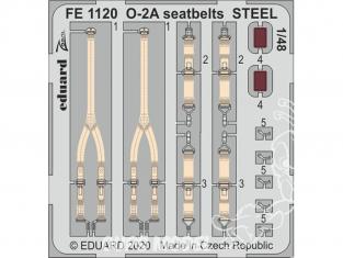 EDUARD photodecoupe avion FE1120 Harnais métal O-2A Icm 1/48