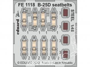 EDUARD photodecoupe avion FE1118 Harnais métal B-25D Revell 1/48