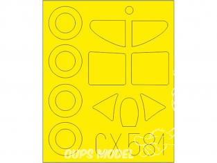 Eduard Express Mask CX581 Dewoitine D.520 Hasegawa / Hobby 2000 1/72