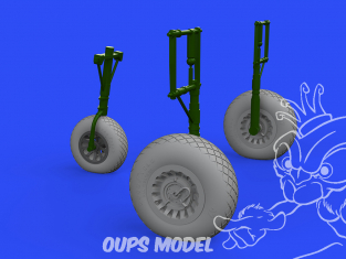 Eduard kit d'amelioration brassin 632159 Roues A-26 Invader Hobby Boss 1/32