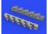 Eduard kit d'amelioration avion brassin 648588 Pipes d'échappement IL-2 Tamiya 1/48