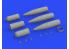 Eduard kit d'amelioration avion brassin 648568 Armement Torpilles US Mk.13 1/48