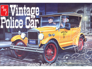 AMT maquette voiture 1182 1927 Ford T Vintage voiture de police 1/25
