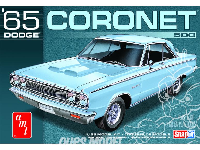AMT maquette voiture 1176 1965 Dodge Coronet Snap It (sans collage) 1/25