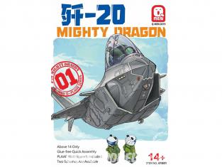 Kittyhawk maquette avion 01001 J-20 Mighty Dragon