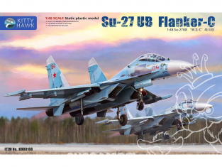 Kitty Hawk maquette avion 80168 Soukhoï Su-27UB Flanker-C 1/48
