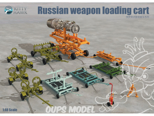 Kitty Hawk maquette avion 80161 chariot de chargement d'arme Russe 1/48