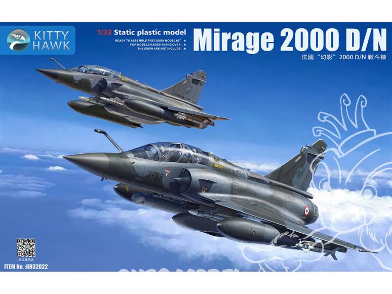 Kitty Hawk maquette avion KH32022 Mirage 2000D/N ARMÉE DE L'AIR FRANÇAISE 2015 1/32