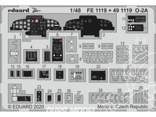 EDUARD photodecoupe avion 491119 Amélioration O-2A Icm 1/48