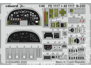 EDUARD photodecoupe avion 491117 Amélioration B-25D Revell 1/48