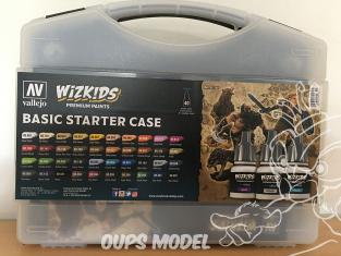 Vallejo Malette Wizkids 80260 Starter set avec couleurs de base figurines fantastique 40 x 8ml et un pinceau